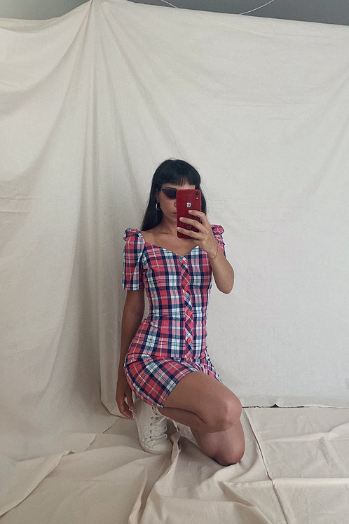 Chequered Pink Dress