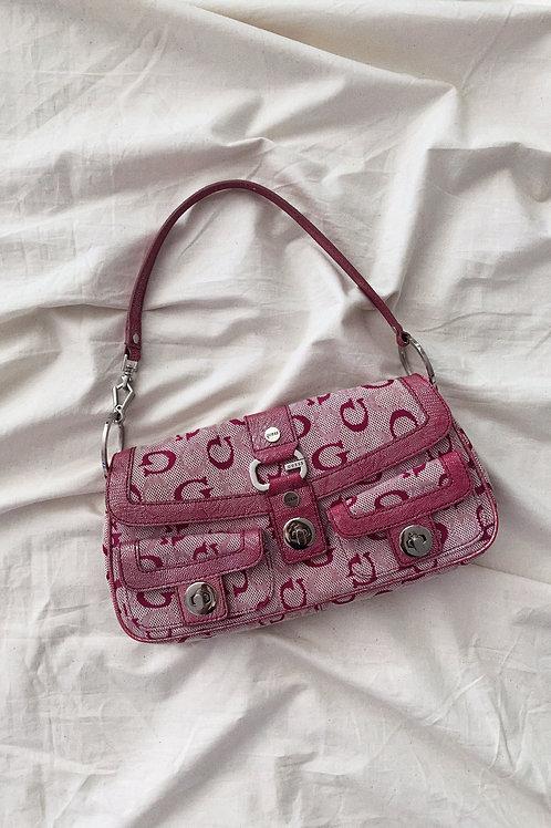 Vintage Y2K 00s Pink Guess Baguette Bag
