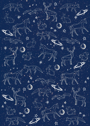 Constellation and Planets Wrapping Paper