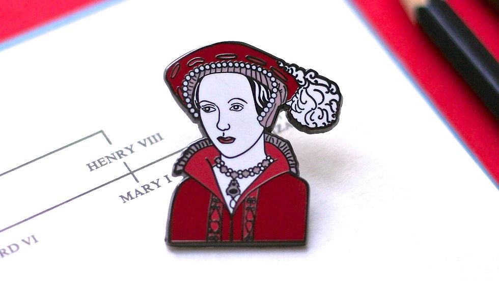 Catherine Parr Enamel Pin The Tudors