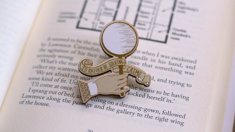 Rather Be Solving Crime Wooden Pin