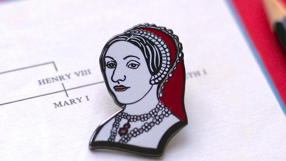 Catherine Howard Enamel Pin The Tudors