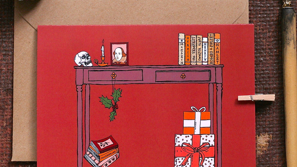 William Shakespeare Christmas Card