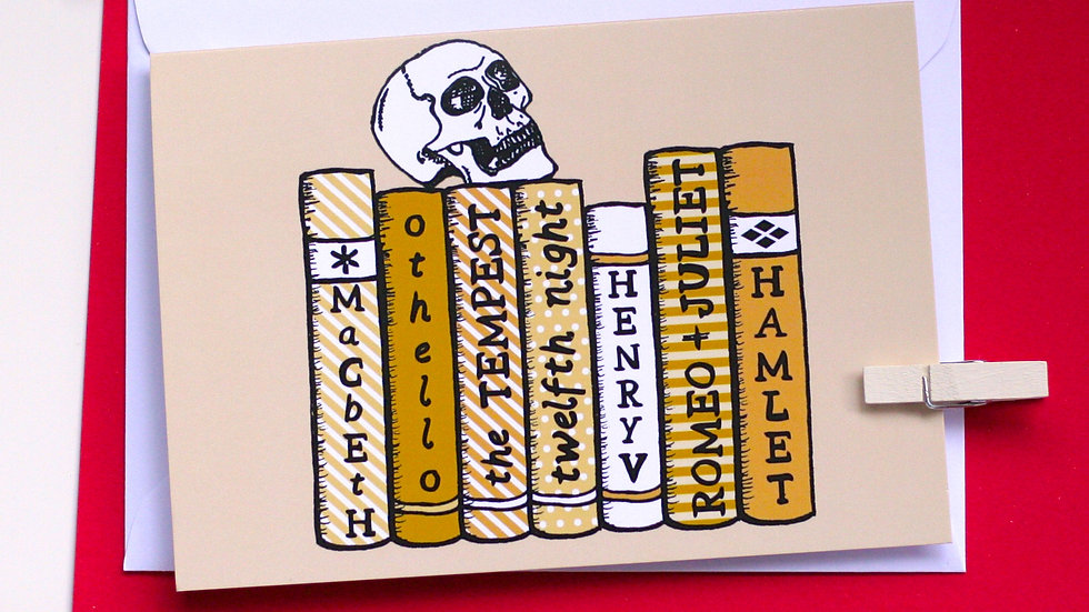 William Shakespeare Bookshelf Card