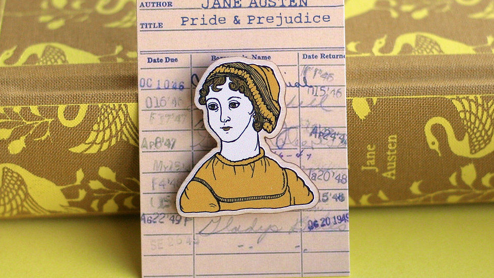 Jane Austen Pride and Prejudice Wooden Pin