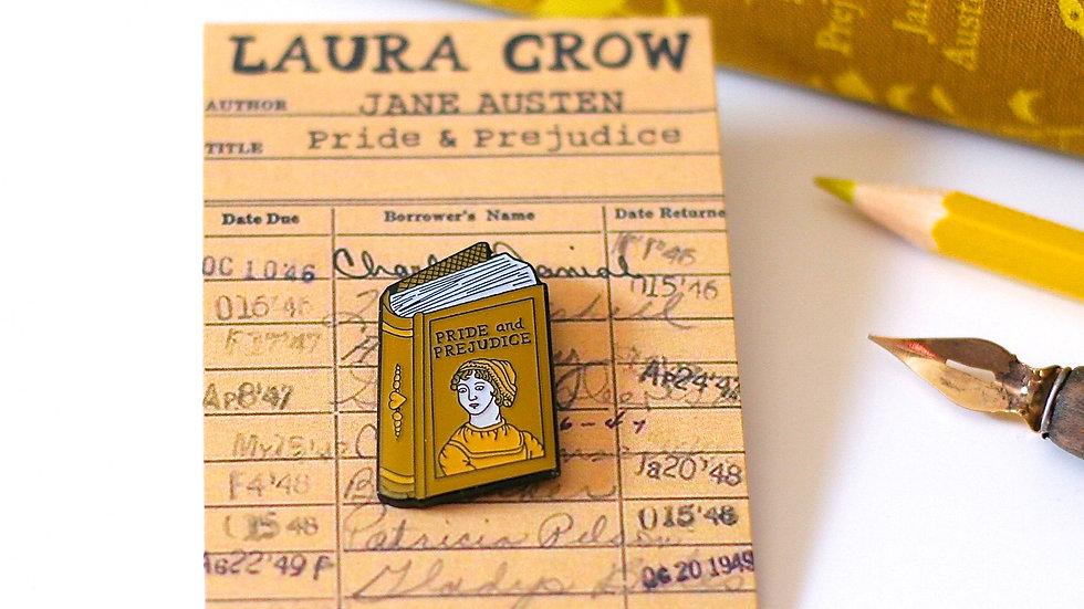 Jane Austen Pride and Prejudice Enamel Pin