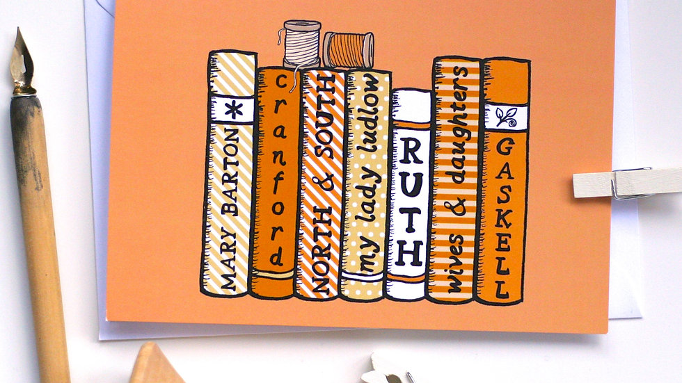 Elizabeth Gaskell Bookshelf Card