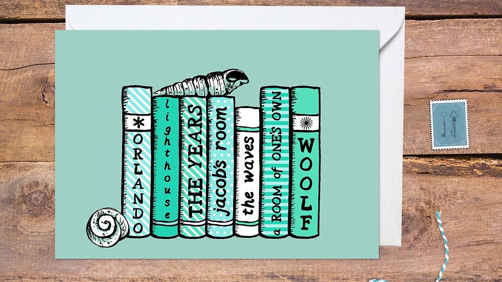 Virgina Woolf Bookshelf Card