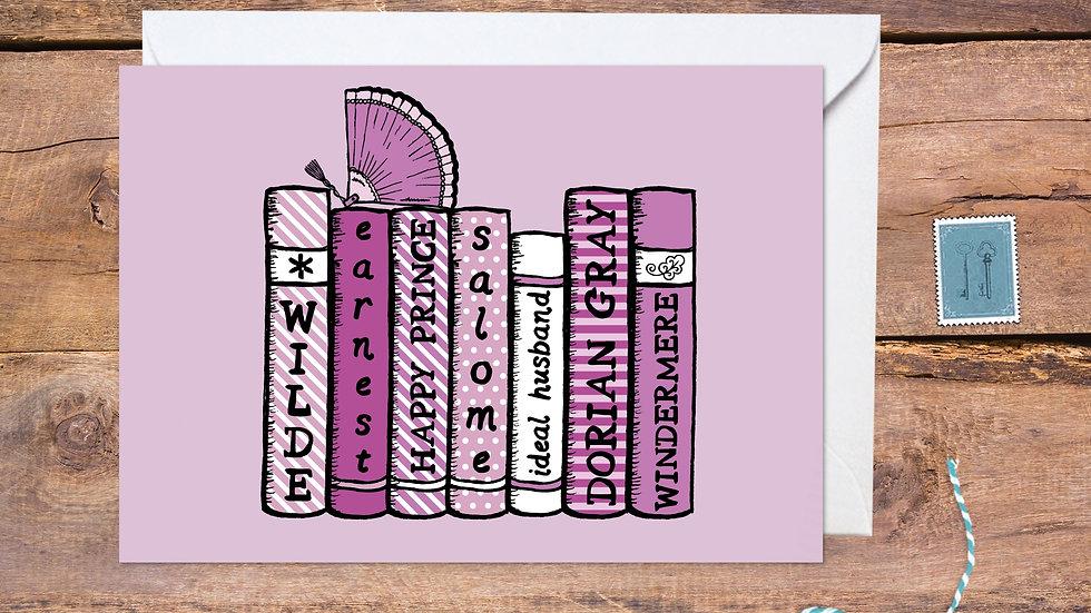 Oscar Wilde Bookshelf Card