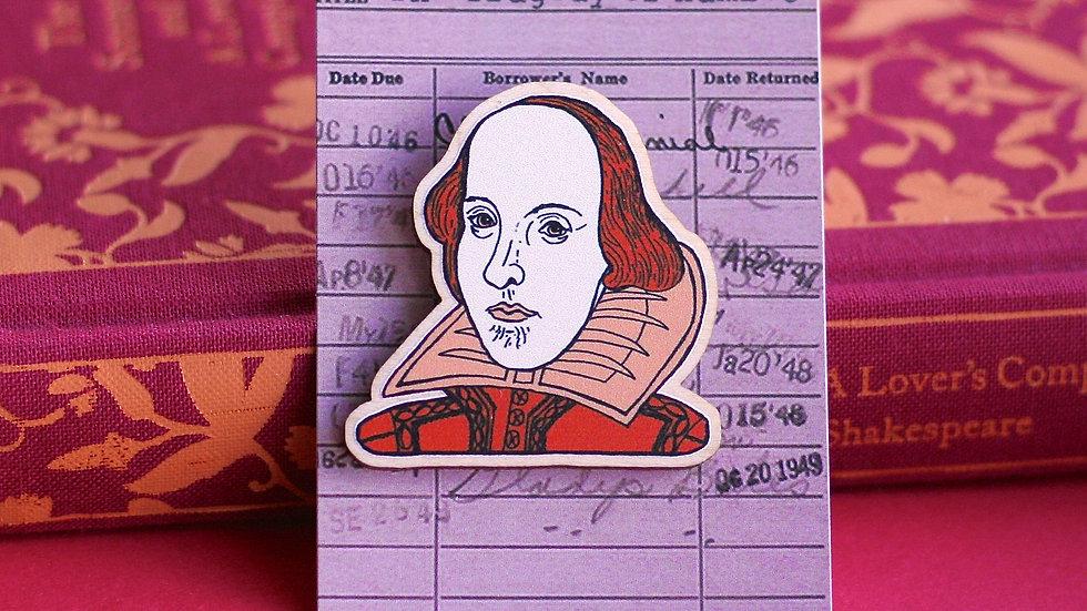 William Shakespeare Hamlet Wooden Pin