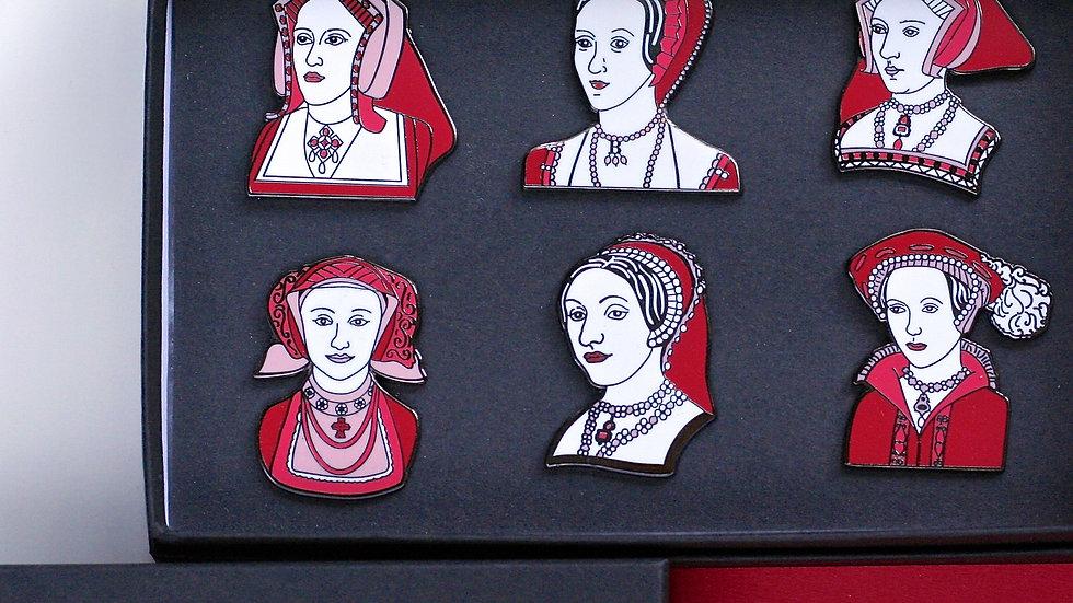 The Tudors Enamel Pin Set Six Wives of Henry VIII