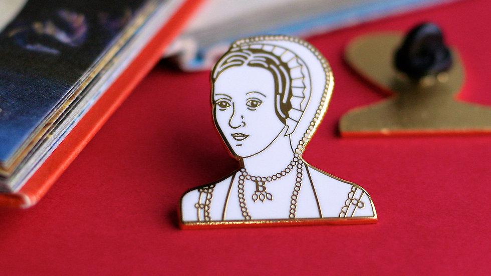 Anne Boleyn Gold Enamel Pin