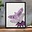 Thumbnail: No Net Ensnares Me Charlotte Bronte Print Purple