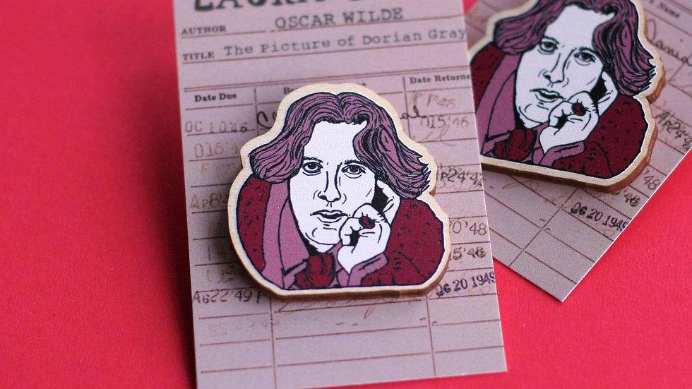 Oscar Wilde Dorian Gray Wooden Pin