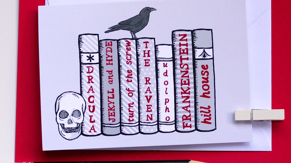Gothic and Horror Bookshelf Card