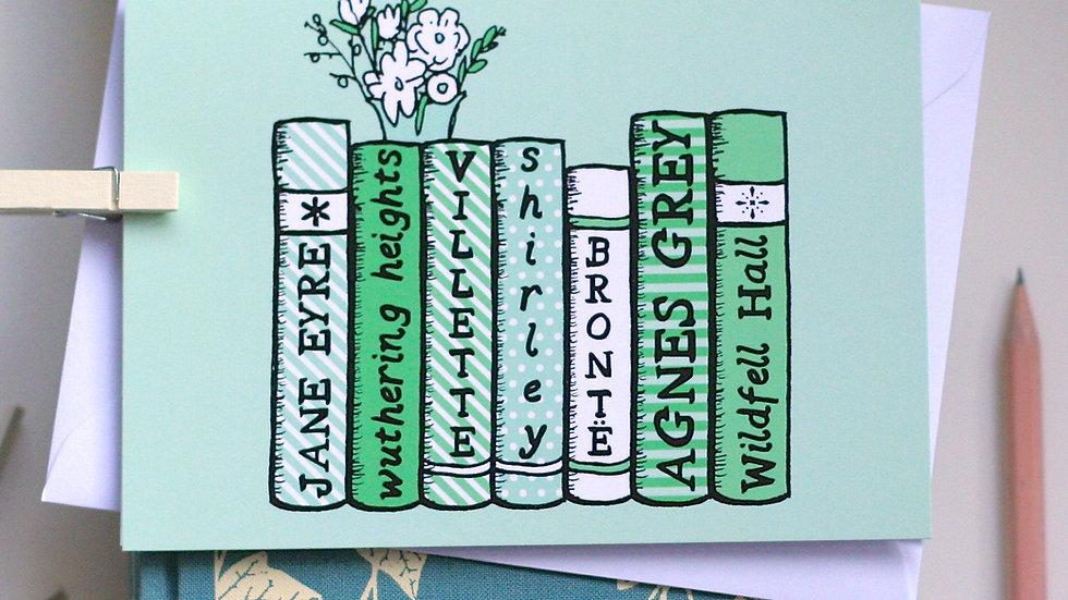 The Bronte Sisters Bookshelf Card