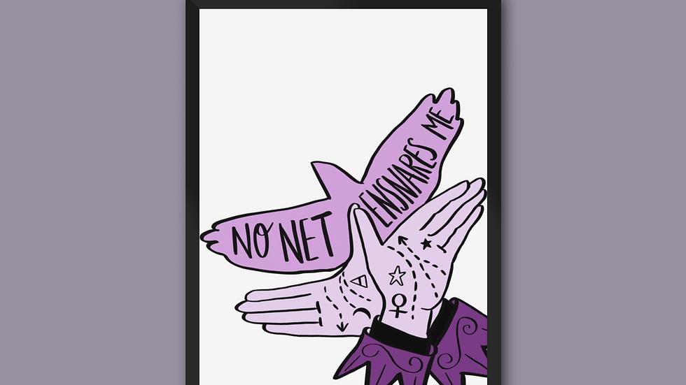 No Net Ensnares Me Charlotte Bronte Print Purple