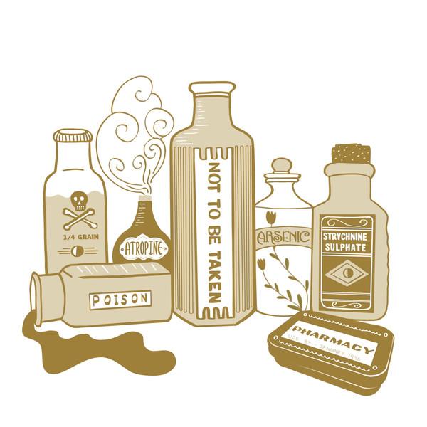 Vintage Poison Bottles