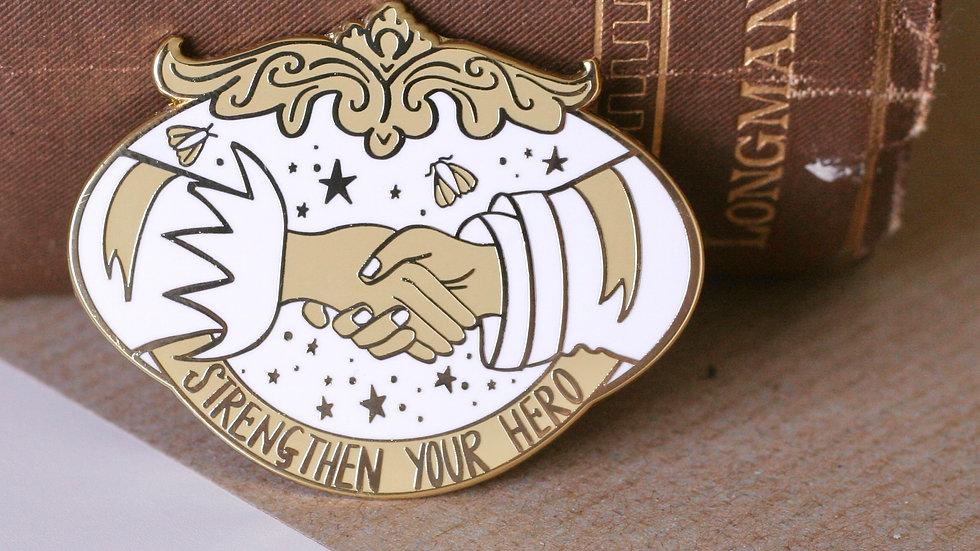 Strengthen Your Hero Anne Bronte Enamel Pin