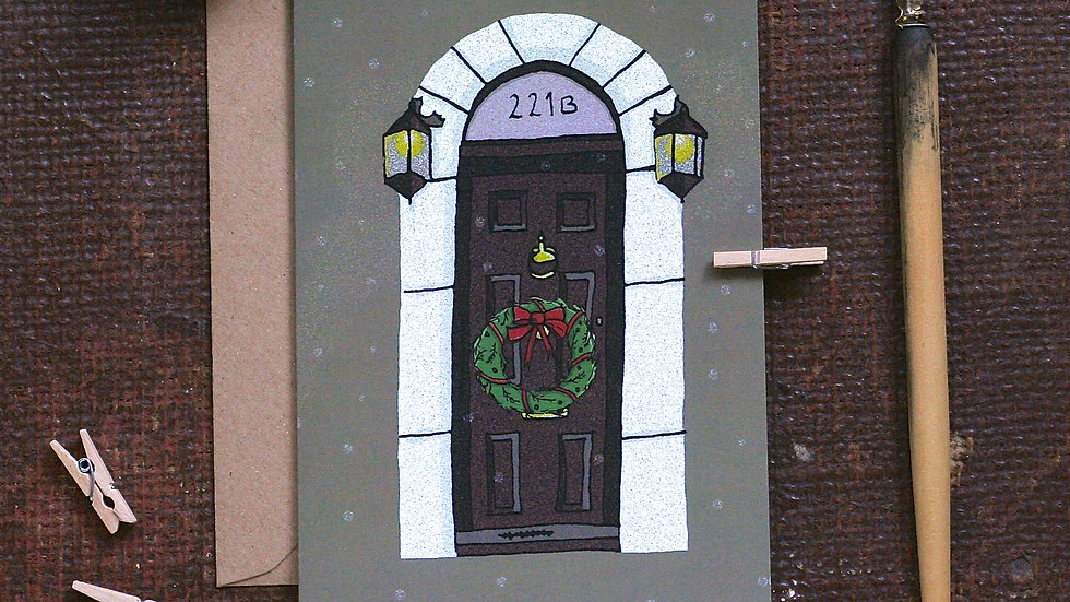 Sherlock Holmes Christmas Card