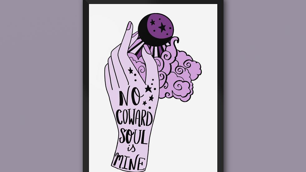 No Coward Soul Is Mine Emily Bronte Print Purple