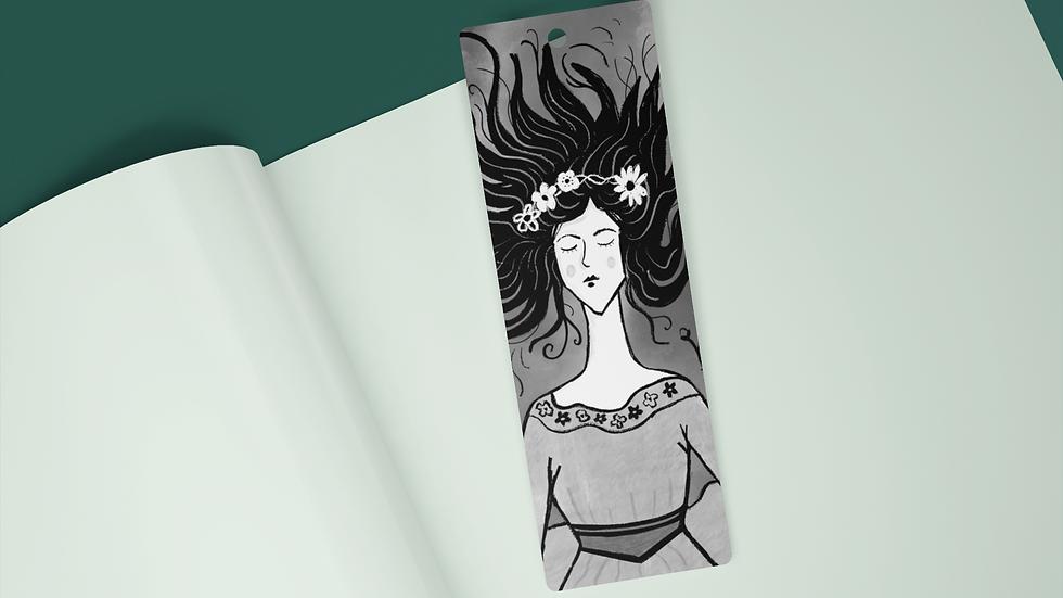 Ophelia Black Ink Bookmark