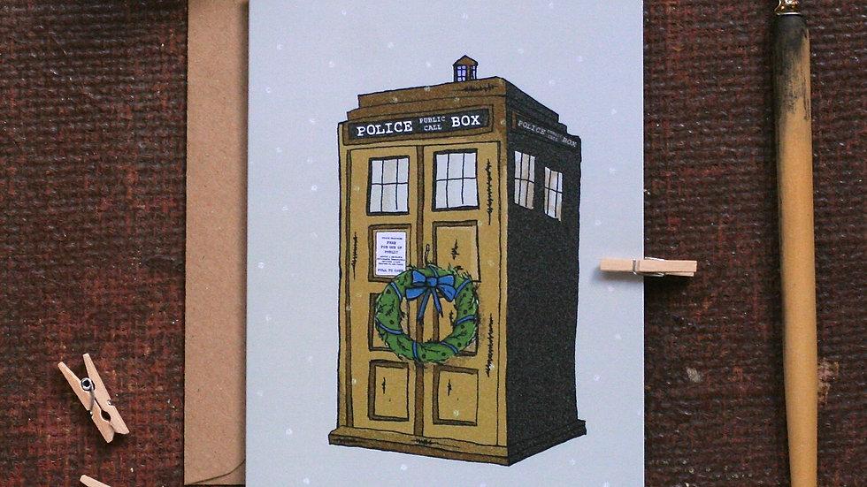Police Box Christmas Card