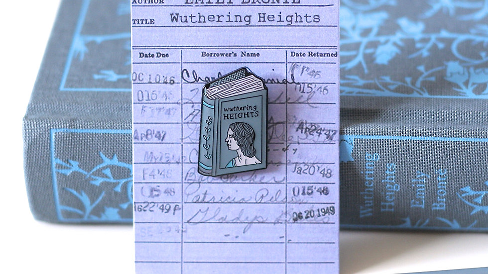 Emily Bronte Wuthering Heights Enamel Pin