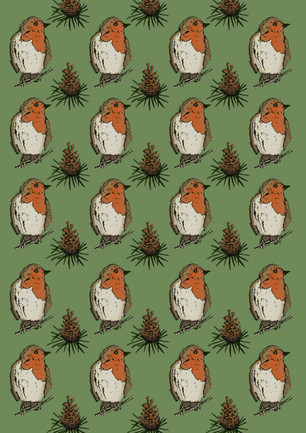 Robin Wrapping Paper