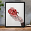 Thumbnail: Lord What Fools These Mortals Be Shakespeare Print Red
