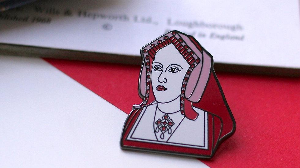 Katherine of Aragon Enamel Pin The Tudors