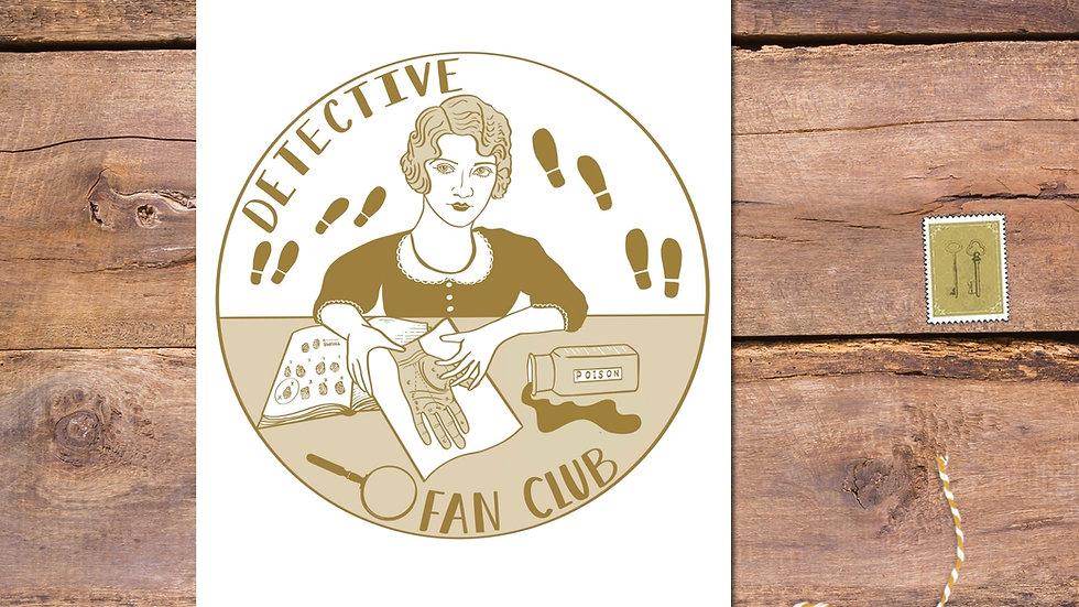 Detective Fan Club Postcard Print