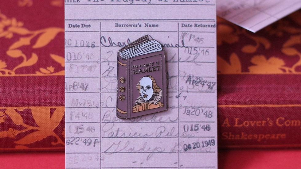 William Shakespeare Hamlet Enamel Pin