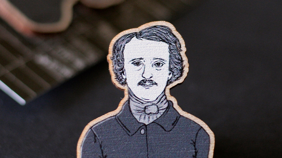 Edgar Allan Poe The Raven Wooden Pin