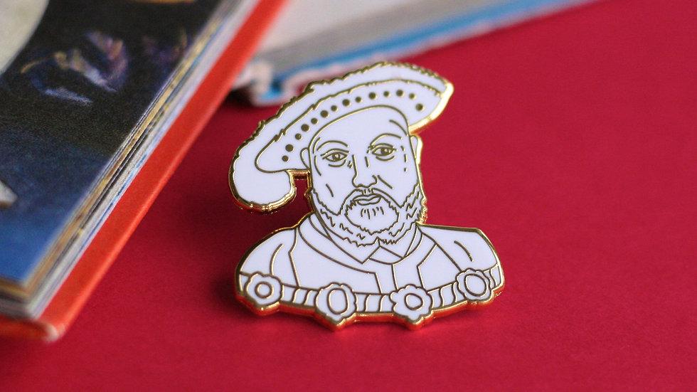 Henry VIII Gold Enamel Pin