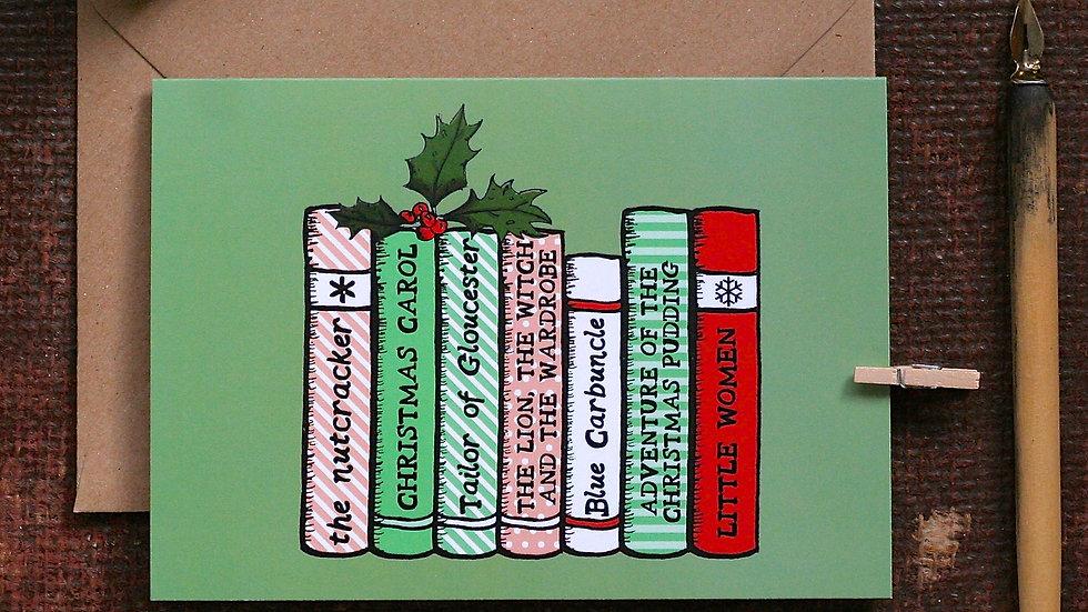 Christmas Bookshelf Christmas Card