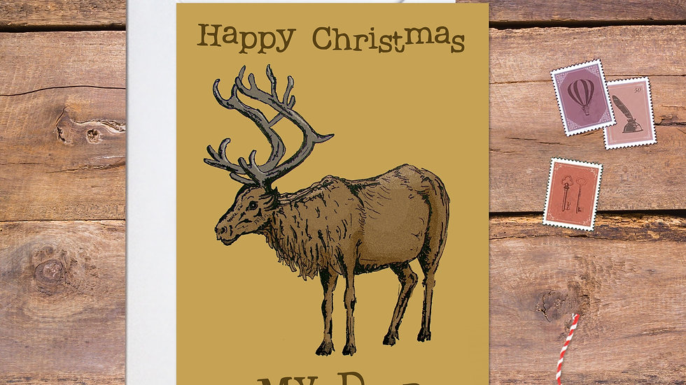 Woodland Reindeer Christmas Card
