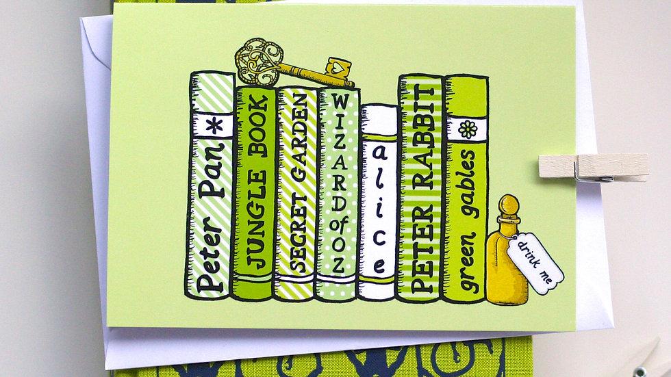 Children's Literature Bookshelf Card