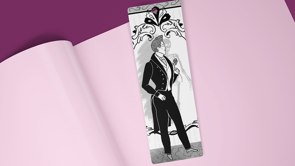 The Picture of Dorian Gray Black Ink Bookmark