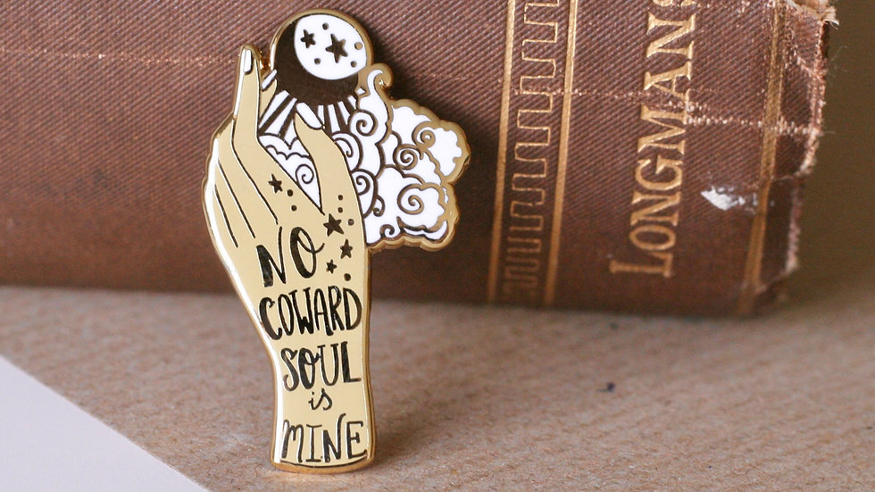 No Coward Soul Is Mine Emily Bronte Enamel Pin