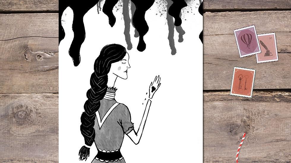 Lady Macbeth Black Ink Postcard