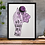 Thumbnail: No Coward Soul Is Mine Emily Bronte Print Purple