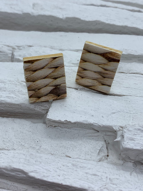 Printed Wooden Studs - Woven