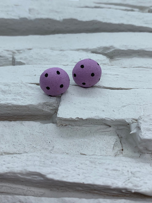 Material Studs - Purple Black Polka Dot