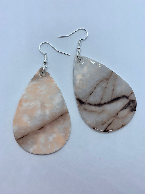 PU Leather Marble Pendant Drop