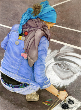 """The Chalk Artist"" by Kathy Simon-McDonald"