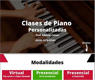 Clases de Piano Personalizadas Prof Edwi