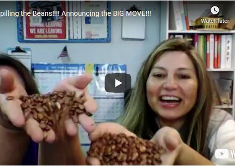 Spilling the Beans!!!! Announcing the BIG MOVE!!!