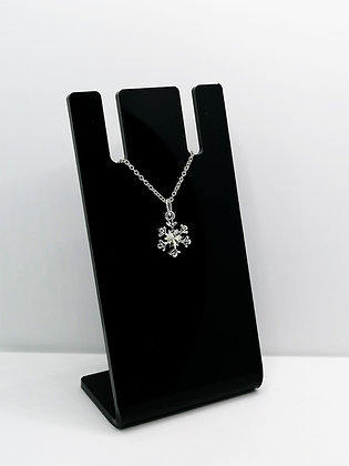 Sterling Silver Faceted Snowflake Pendant
