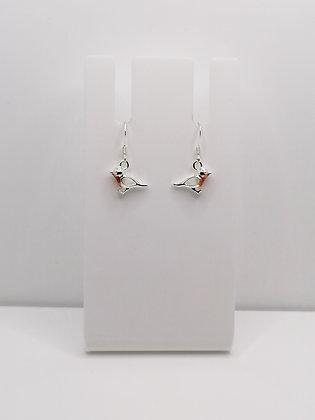 Sterling Silver Robin Earrings